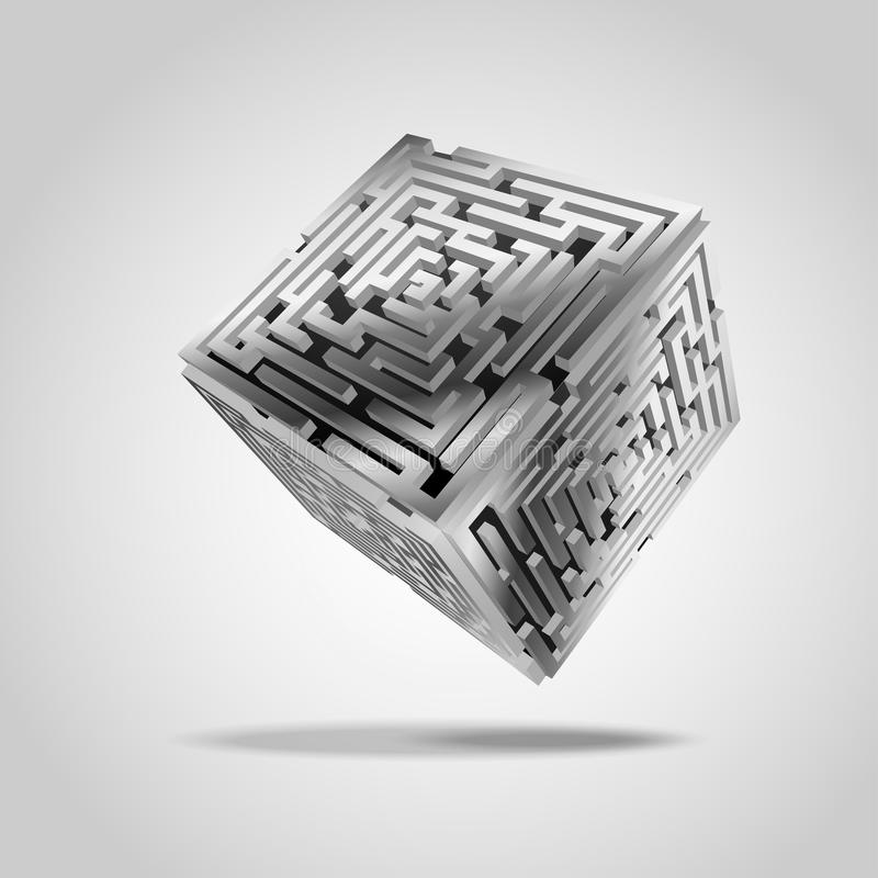 cúbico stock de ilustración