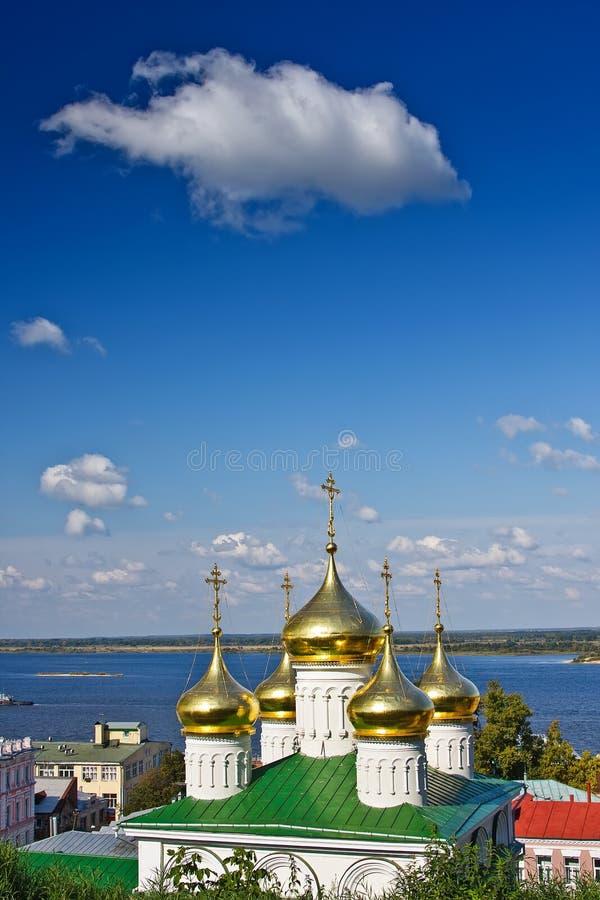 Cúpula da igreja de John The Baptist, Nizhny Novgorod imagem de stock royalty free