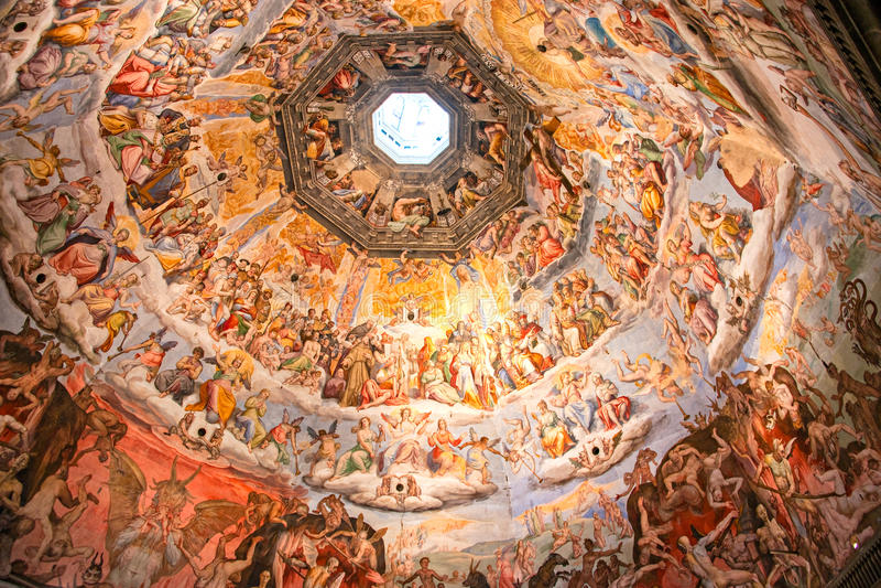 Cúpula de Brunelleschi do domo de Florença. imagens de stock
