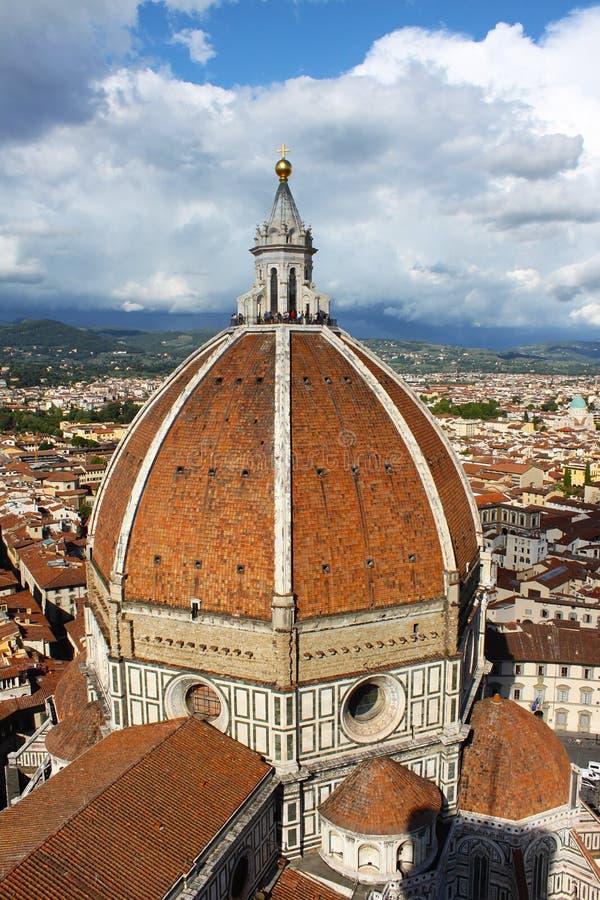 A cúpula de Brunelleschi - Florence Dome imagem de stock