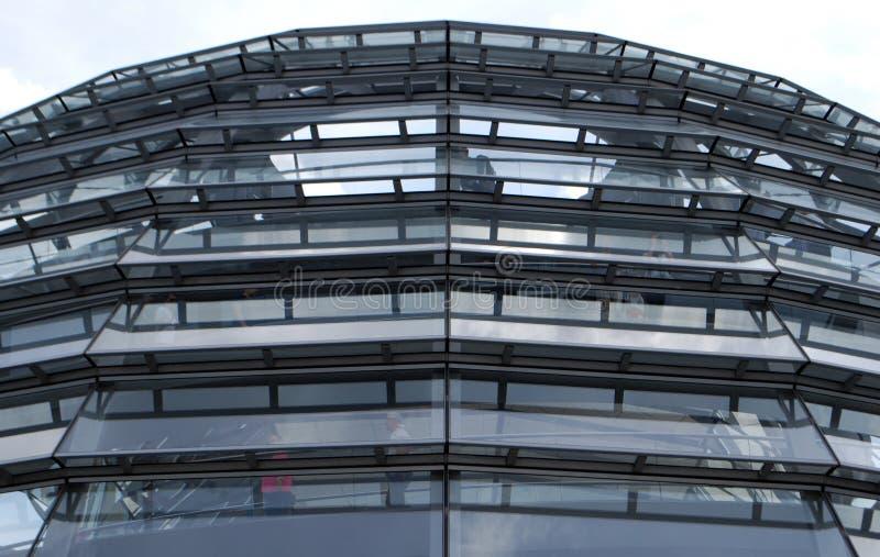 Cúpula de Reichstag del exterior fotografía de archivo