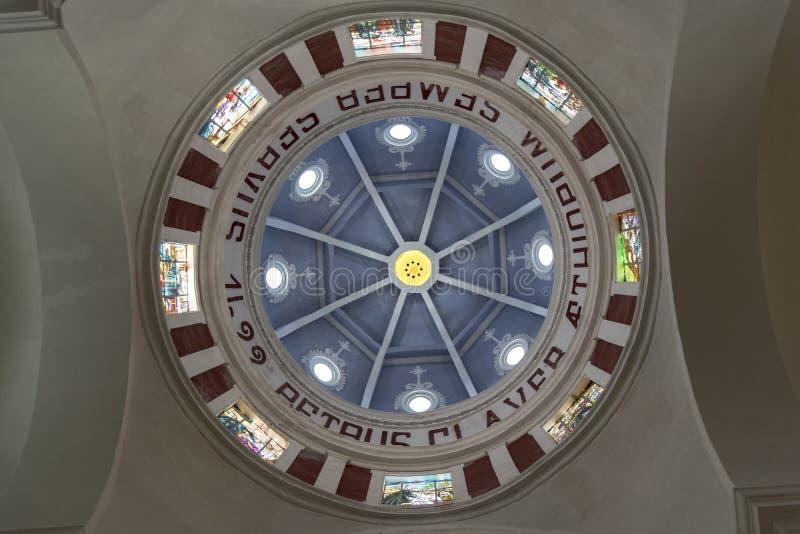 Cúpula del Parroquia San Pedro Claver imagenes de archivo