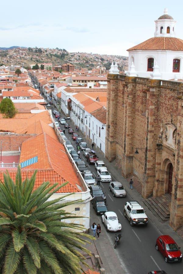 Cúpula en San Felipe Neri Monastery, Sucre, Bolivia imagenes de archivo