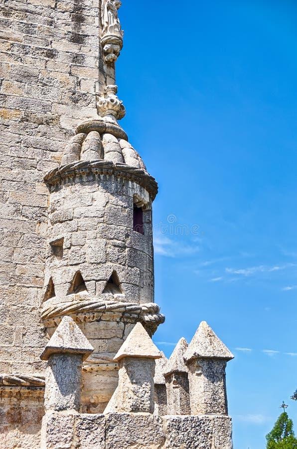 Cúpula na torre de Belém imagem de stock royalty free