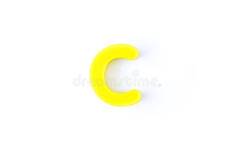 C信件用英语 库存图片