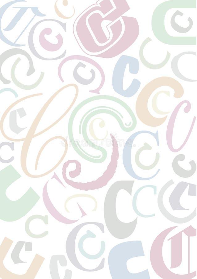 c色的信函pastell 向量例证