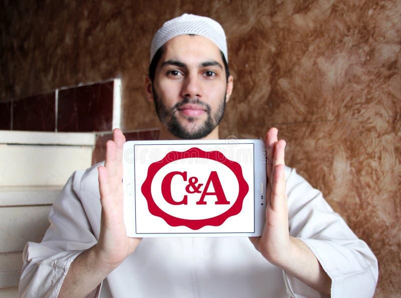 C&A-återförsäljarelogo royaltyfri bild