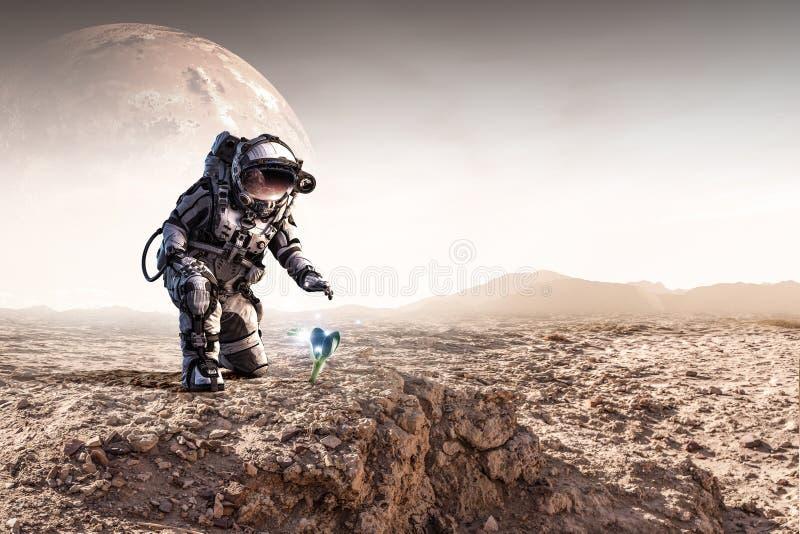 C'è vita sull'altro pianeta Media misti immagini stock