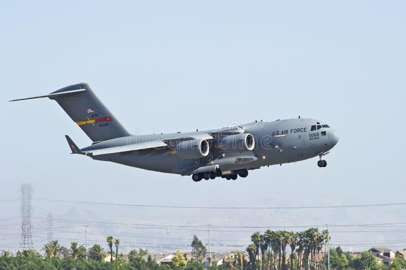 C-17 ładunku transportu Militarny samolot zdjęcie stock