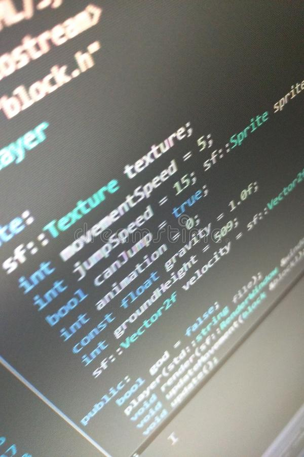 C++ κώδικας στοκ εικόνες