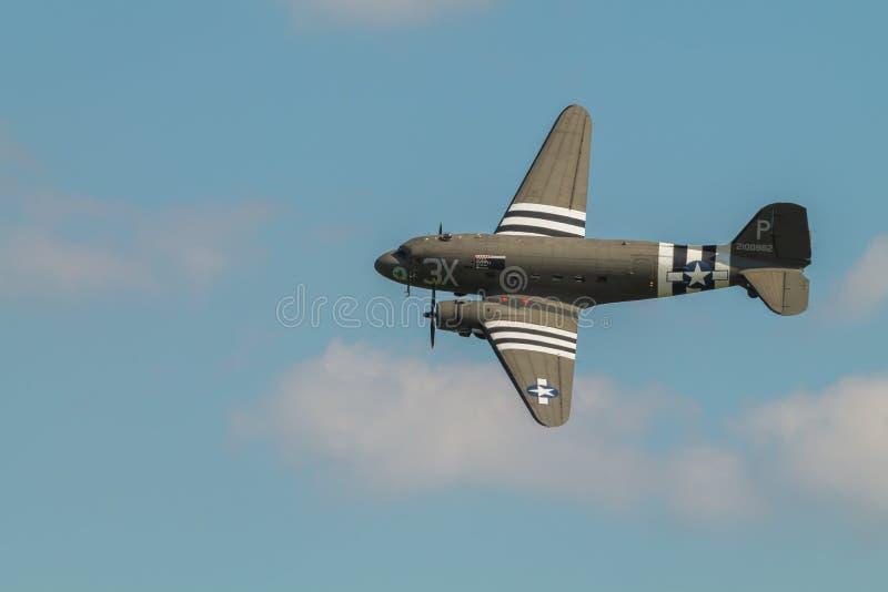 C-47 Ντάγκλας μέρας-μ flypast BBMF της Ντακότας στοκ φωτογραφίες