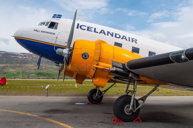 C47 Ντάγκλας Icelandair αεροπλάνο στοκ φωτογραφίες