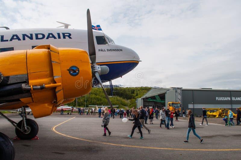 C47 Ντάγκλας Icelandair αεροπλάνο στοκ εικόνα