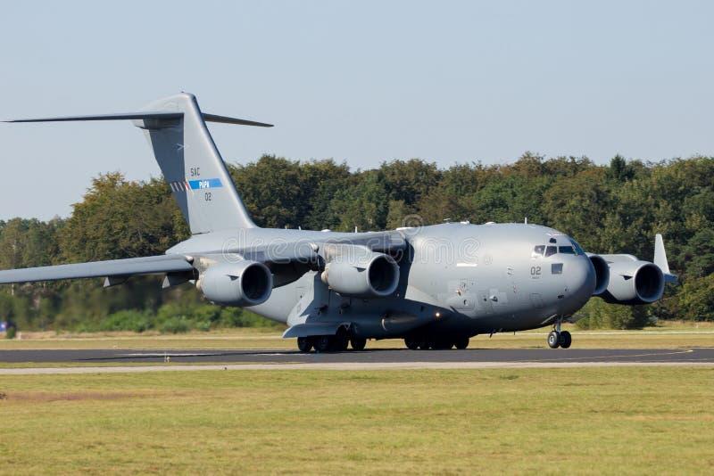 C-17军用货物航空器 免版税库存图片