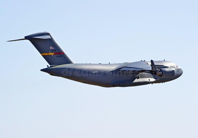 C-17军用货运航空器 库存图片