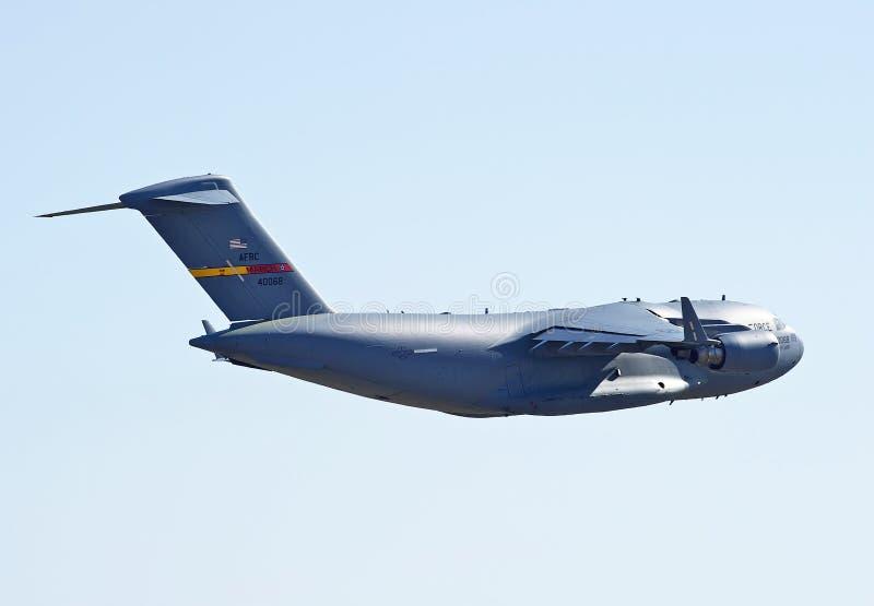 C-17军用货运航空器 图库摄影