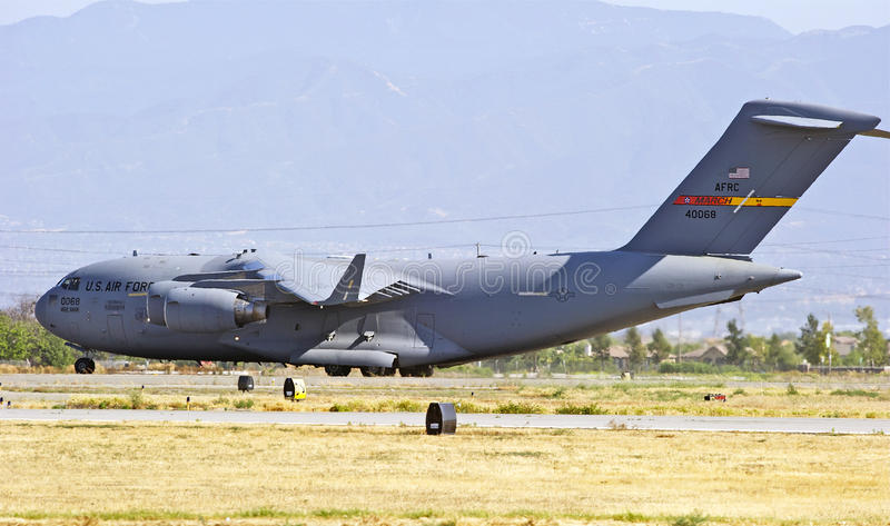 C-17军用货运航空器 免版税图库摄影