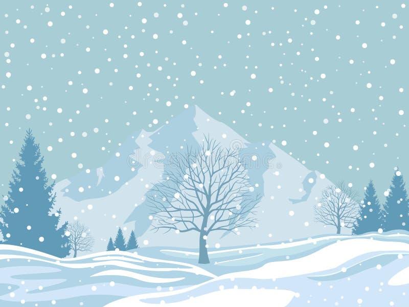 33c 1月横向俄国温度ural冬天 向量例证