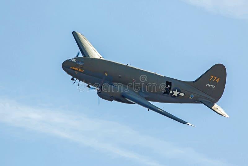 C-46特攻队货物飞机 免版税库存图片