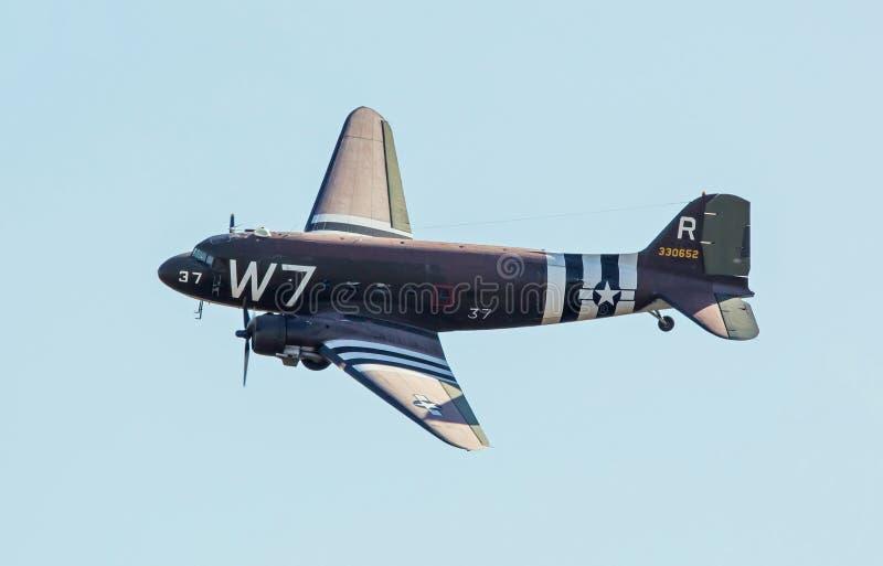 C-47货物飞机 免版税库存照片