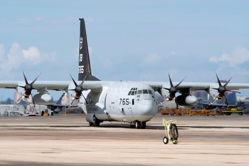 C-130 hercules royalty-vrije stock afbeelding