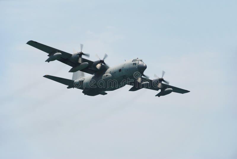 C-130 militair vervoervliegtuig royalty-vrije stock foto