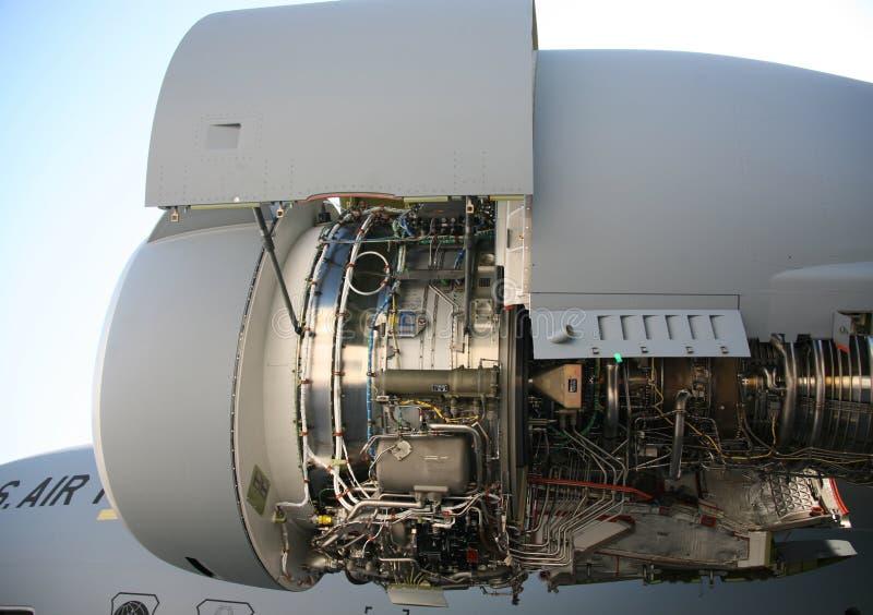 C-17 motor de los aviones militares de los aviones militares EngineC-17 imagen de archivo libre de regalías