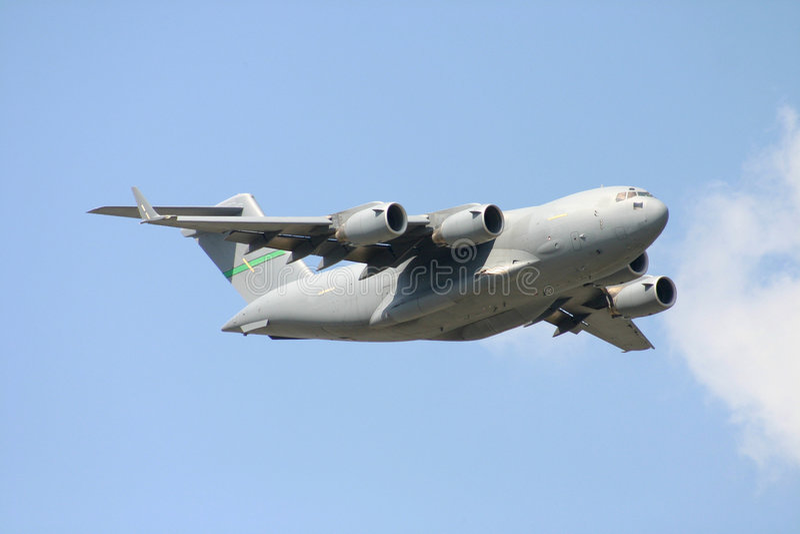 c 17 samolot transportowy fotografia stock