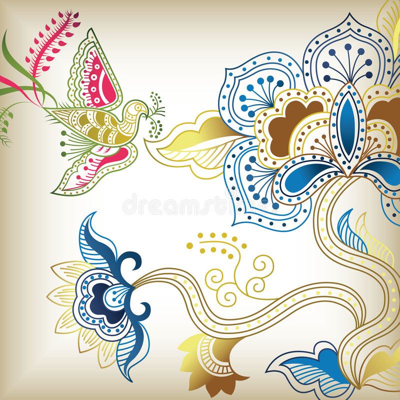 c abstrait floral illustration stock