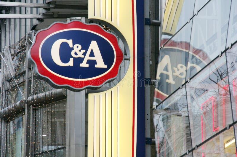 C&A Clements und August-Speicherzeichen stockbilder