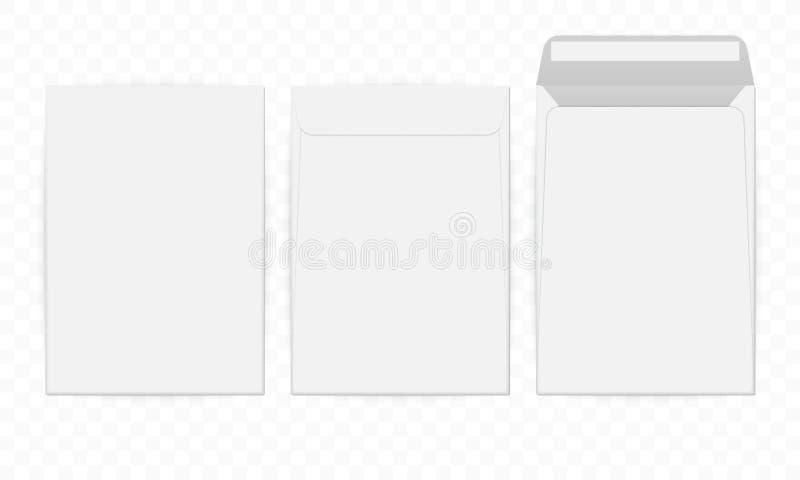 C4 anulam o envelope branco do papel de letra do vetor do modelo ilustração do vetor