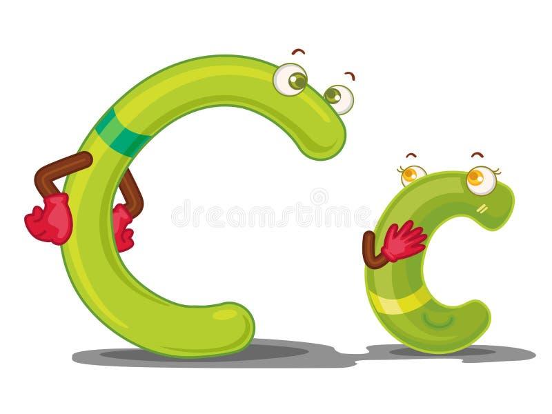 c-bokstav stock illustrationer