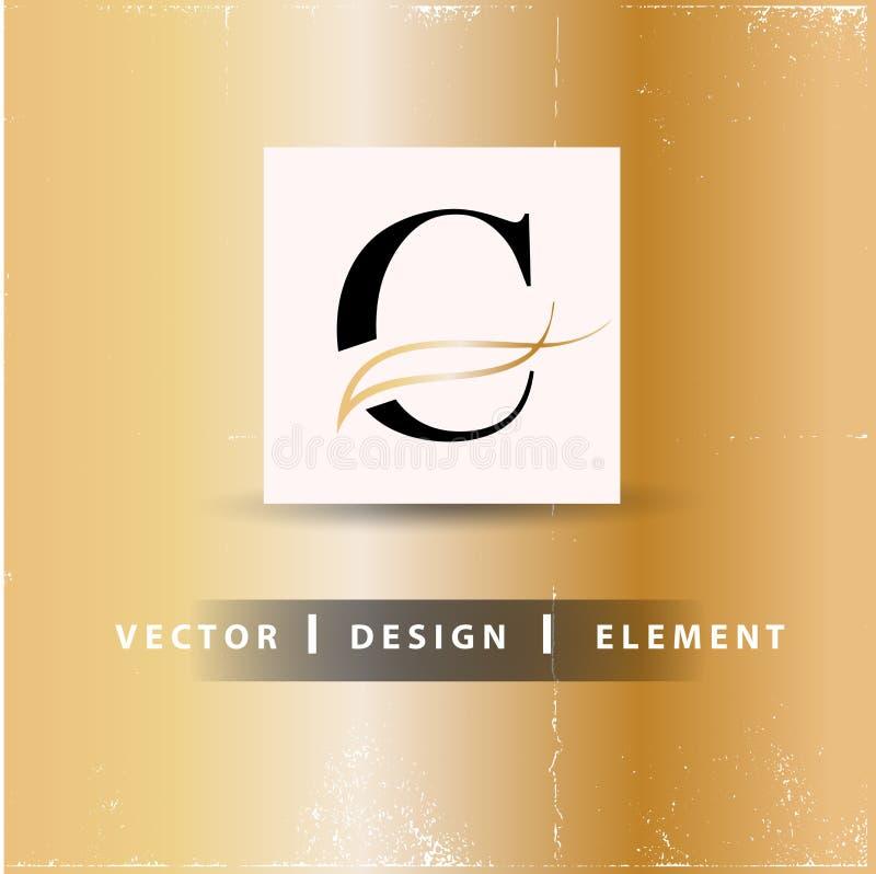 C-bokstav Logo Design Concept stock illustrationer