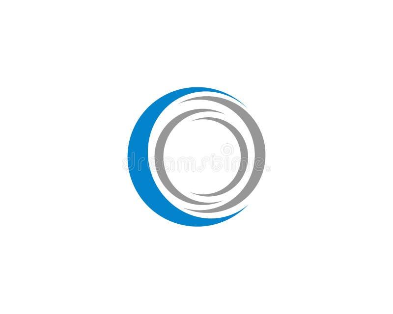 C-bokstav Logo Template stock illustrationer