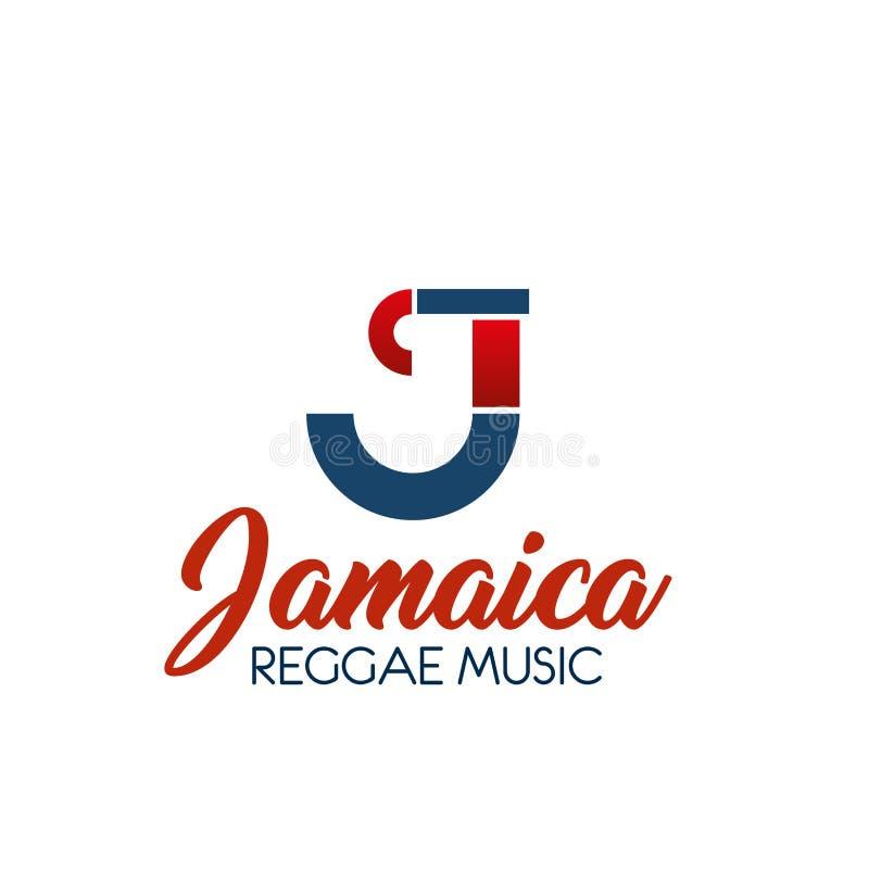C brieven vectorpictogram voor reggaemuziek royalty-vrije illustratie