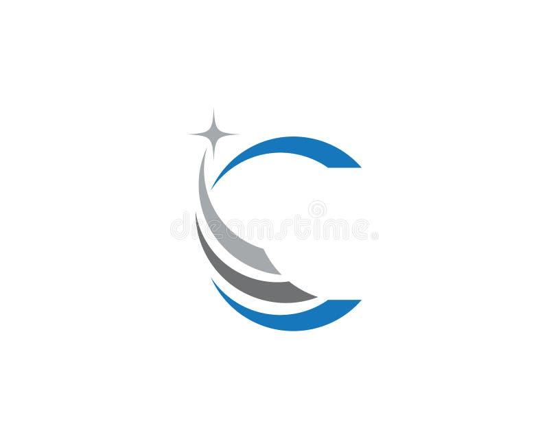 C-Buchstabe Logo Template stock abbildung