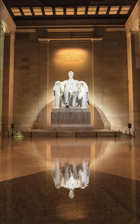 C.C. de Lincoln Memorial Statue Washington fotografia de stock