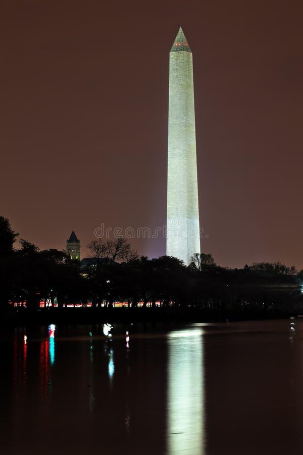 C.C de nuit de monument de Washington images stock