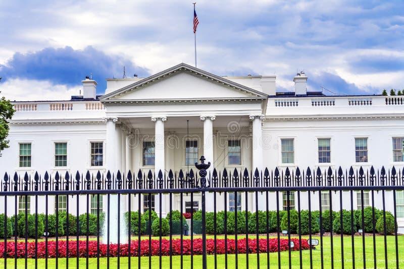 C.C de Pennsylvania Ave Washington de barrière de la Maison Blanche images libres de droits