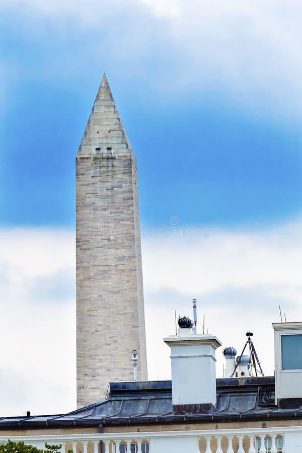 C.C de Washington Monument Pennsylvania Ave Washington de la Maison Blanche photo stock