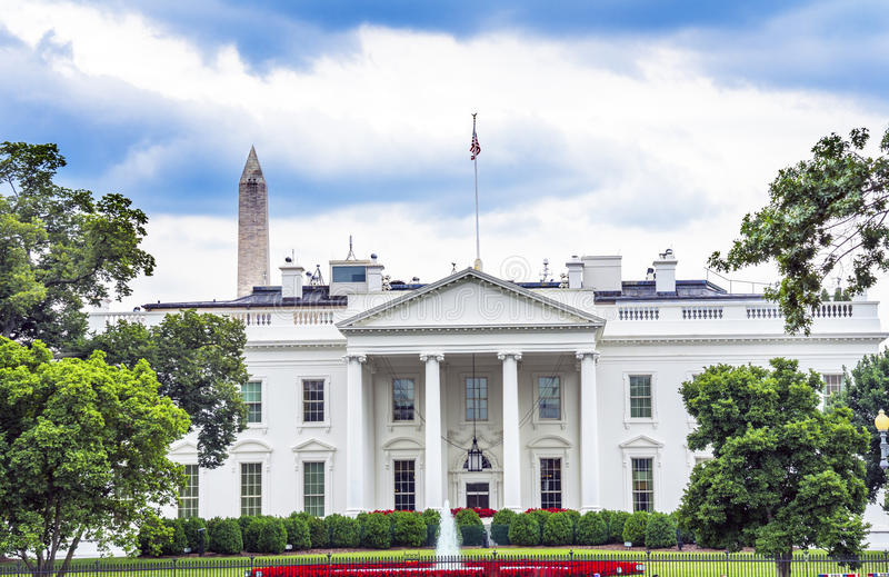 C.C de Washington Monument Pennsylvania Ave Washington de porte de la Maison Blanche images libres de droits