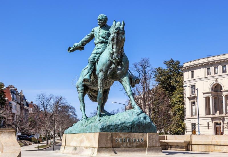 C.C. do general Phil Sheridan Statue Sheridan Circle Washington imagens de stock royalty free