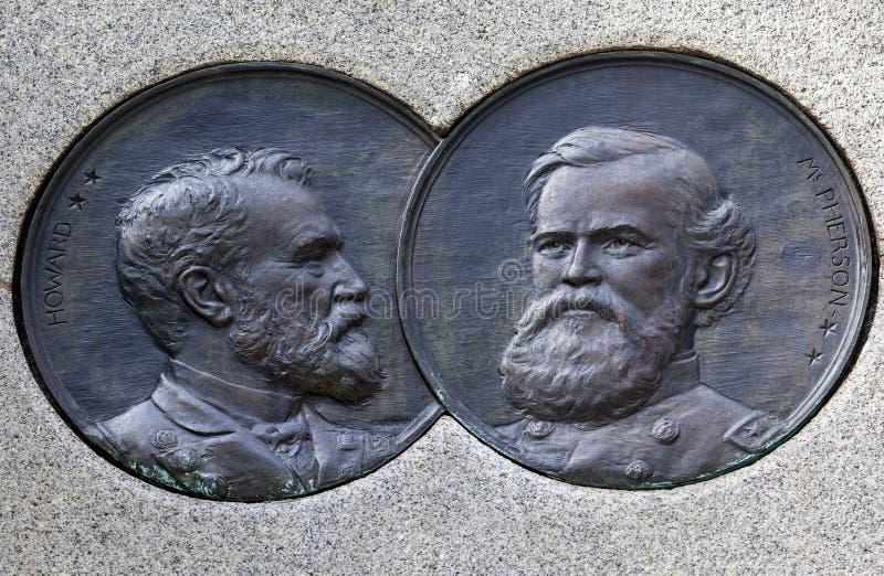C.C du Général McPherson Medallion Sherman Memorial Washington images stock