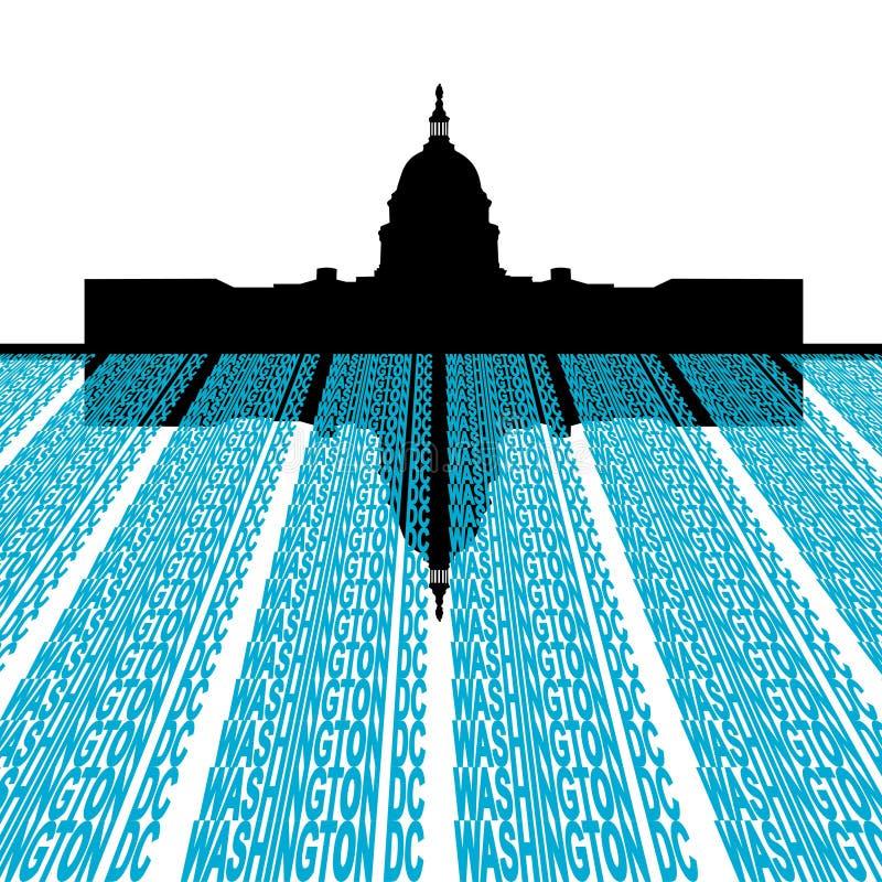 C.C Washington de capitol de construction illustration de vecteur
