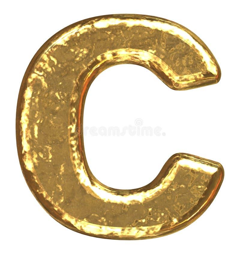 c chrzcielnicy złoty list royalty ilustracja