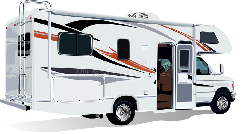 Rv c class camper trailer stock photo image of truck for Motor vehicle history report free
