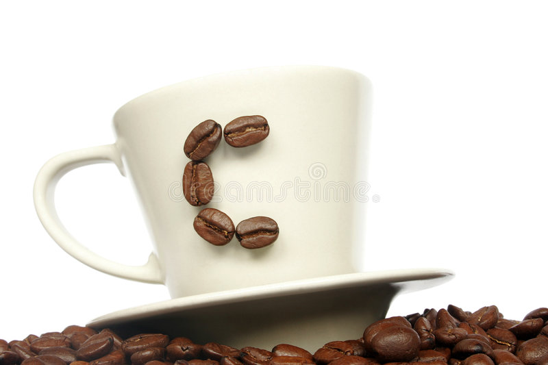 Download C For Coffee stock image. Image of beans, liquid, spill - 466633