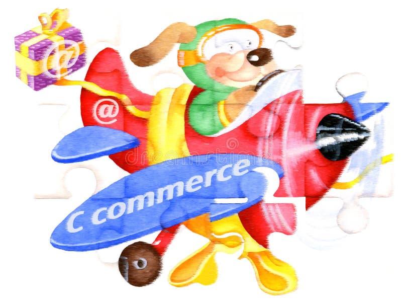 C-commercio illustrazione di stock