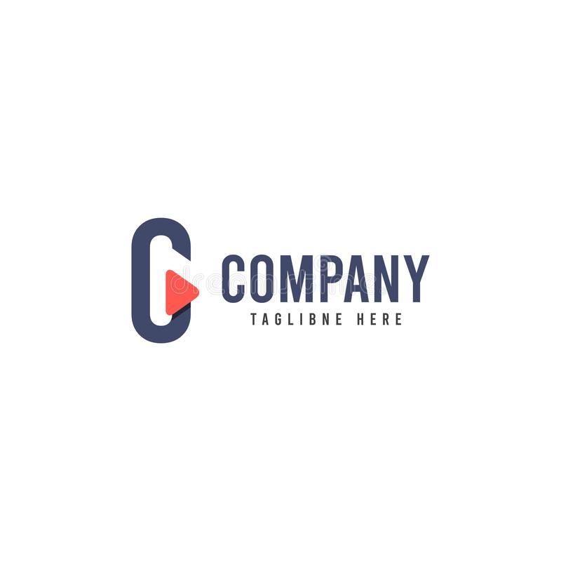 C Company Logo Vector Template Design Illustration stock de ilustración