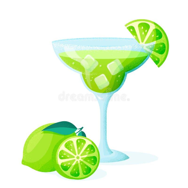 C?ctel de Margarita con la cal Ilustraci?n del vector libre illustration